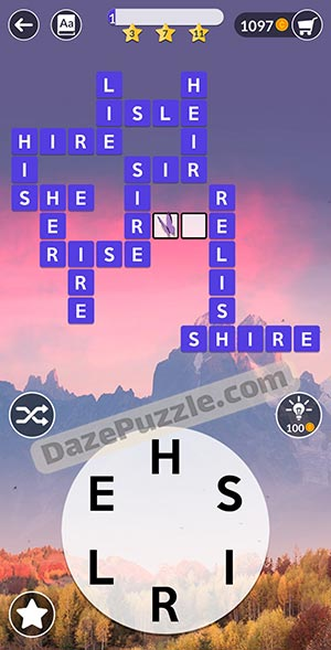 wordscapes november 20 2020 daily puzzle answer