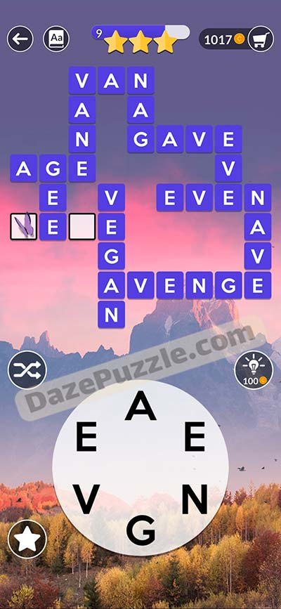 wordscapes november 5 2020 daily puzzle answer