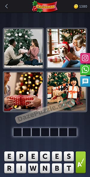 4 pics 1 word december 25 2020 daily puzzle answer