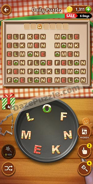 word cookies december 19 2020 daily puzzle answer