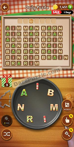 word cookies december 24 2020 daily puzzle answer