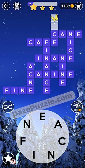 wordscapes december 21 2020 daily puzzle answer
