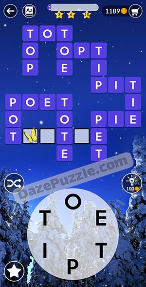 wordscapes december 26 2020 daily puzzle answer