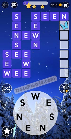 wordscapes december 29 2020 daily puzzle answer