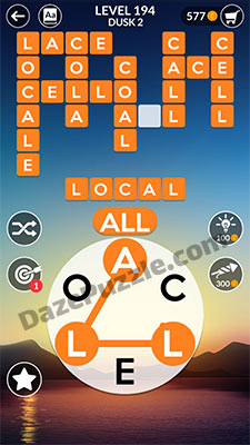 wordscapes level 194 answer