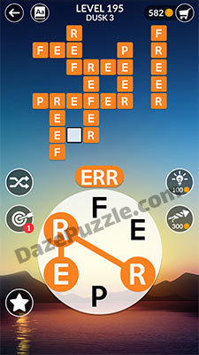wordscapes level 195 answer