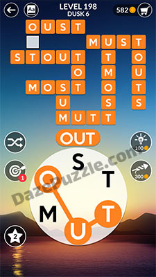wordscapes level 198 answer