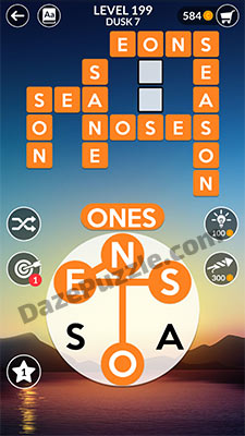 wordscapes level 199 answer