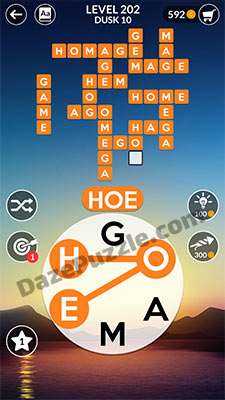 wordscapes level 202 answer