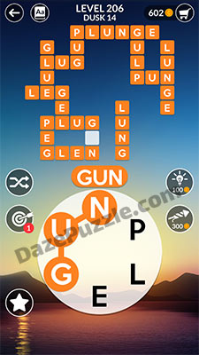 wordscapes level 206 answer