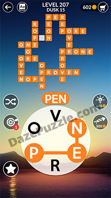 wordscapes level 207 answer