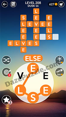 wordscapes level 208 answer