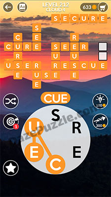 wordscapes level 212 answer