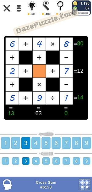 Puzzle Page Cross Sum January 11 2021 Answers