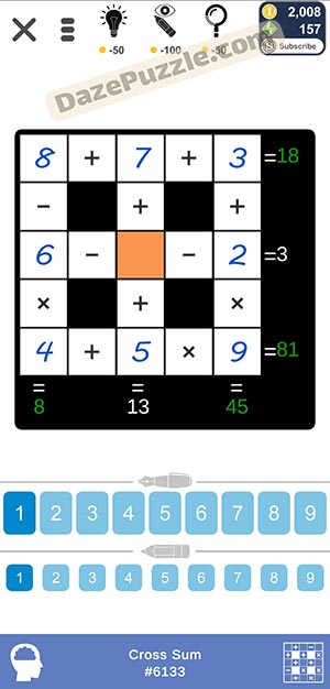 Puzzle Page Cross Sum January 18 2021 Answers