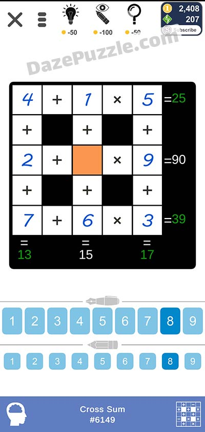 Puzzle Page Cross Sum January 22 2021 Answers