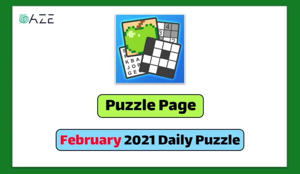 puzzle page february 2021 daily puzzle