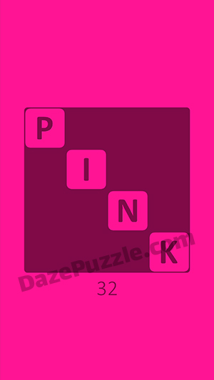Pink level 32 answer