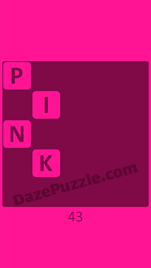 Pink level 43 answer