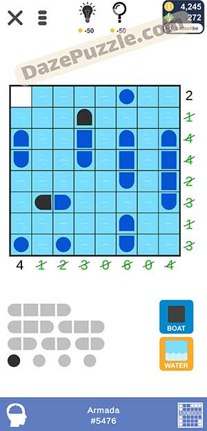 Puzzle page Armada February 4 2021 daily puzzle answer