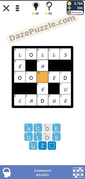 Puzzle Page Codeword February 24 2021 Answers