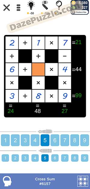 Puzzle Page Cross Sum February 14 2021 Answers