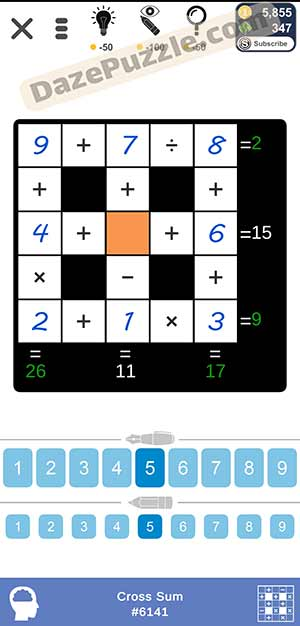 Puzzle Page Cross Sum February 17 2021 Answers