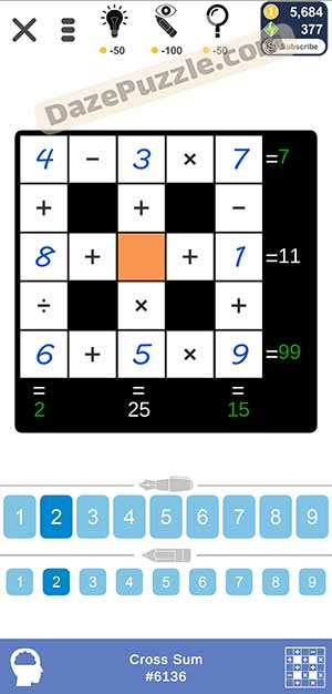 Puzzle Page Cross Sum February 22 2021 Answers
