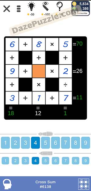 Puzzle Page Cross Sum February 24 2021 Answers