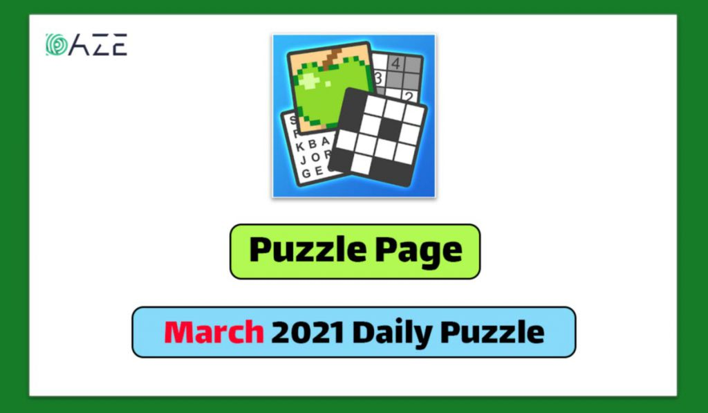 puzzle page march 2021 daily puzzle