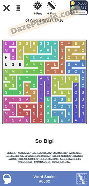 puzzle page word snake February 13 2021 daily puzzle answer