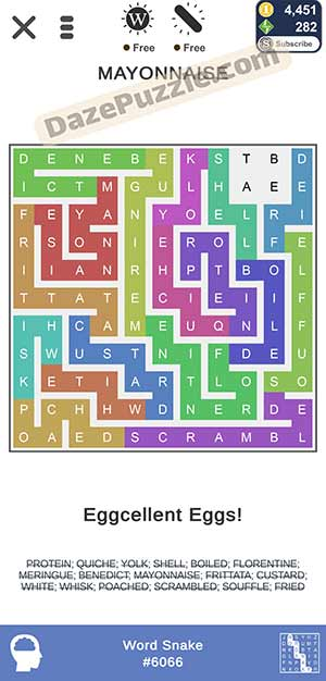 puzzle page word snake February 6 2021 daily puzzle answer