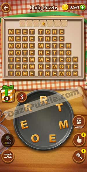 word cookies february 22 2021 daily puzzle answer