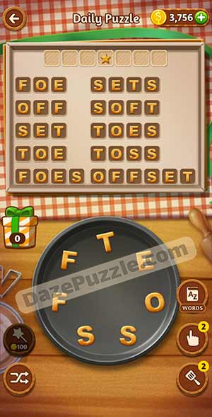 word cookies March 1 2021 daily puzzle answer