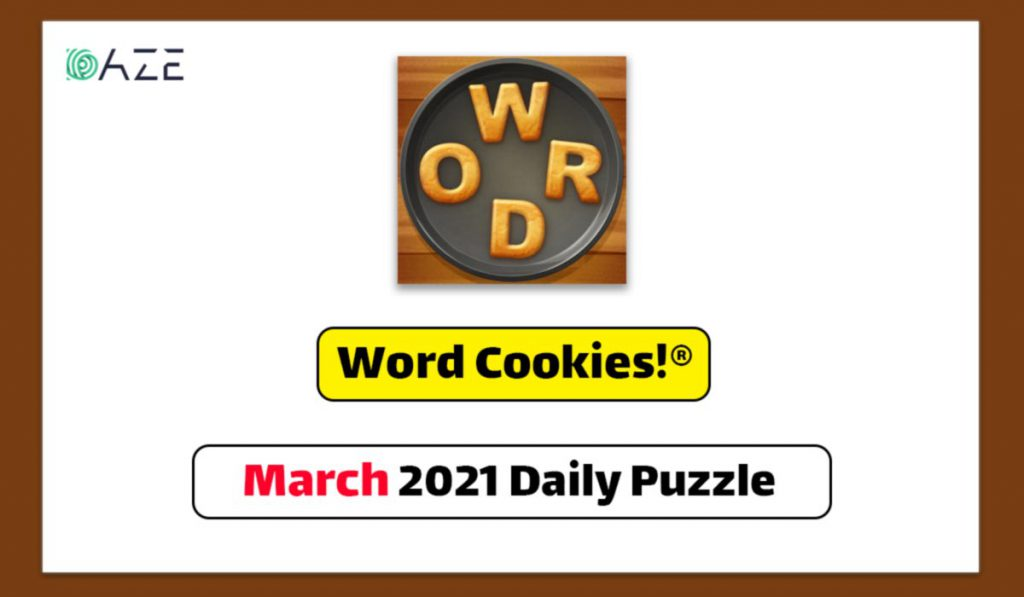 word cookies march 2021 daily puzzle