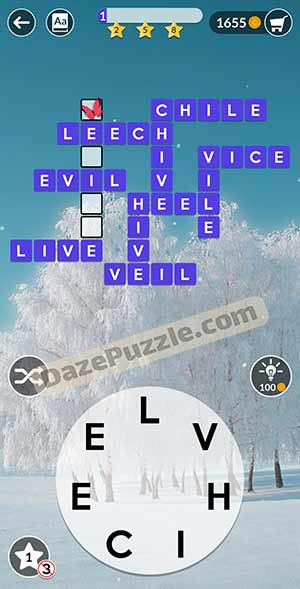 wordscapes February 21 2021 daily puzzle answer
