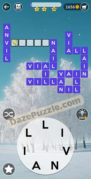 wordscapes February 24 2021 daily puzzle answer