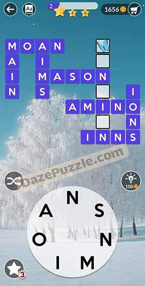 wordscapes February 27 2021 daily puzzle answer