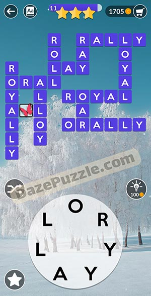 wordscapes February 7 2021 daily puzzle answer