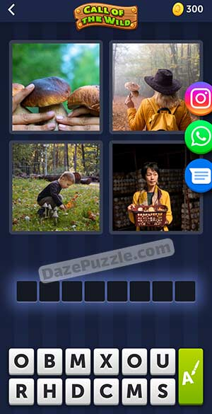 4 pics 1 word March 29 2021 daily puzzle answer