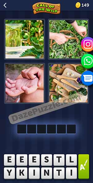 4 pics 1 word March 15 2021 daily puzzle answer