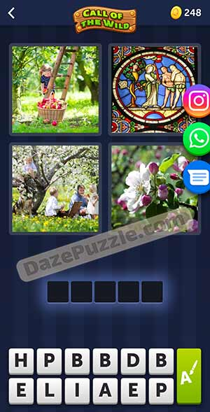 4 pics 1 word March 27 2021 daily puzzle answer
