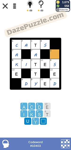 Puzzle Page Codeword March 24 2021 Answers