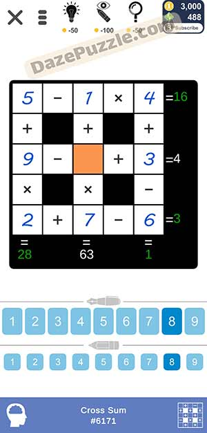 Puzzle Page Cross Sum March 12 2021 Answers