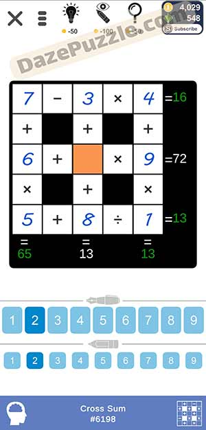 Puzzle Page Cross Sum March 21 2021 Answers
