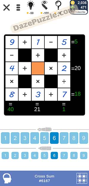 Puzzle Page Cross Sum March 3 2021 Answers