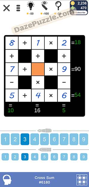 Puzzle Page Cross Sum March 5 2021 Answers