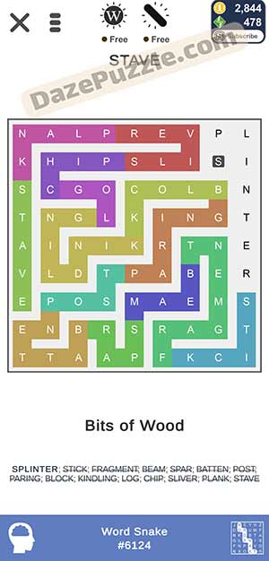 puzzle page word snake March 10 2021 daily puzzle answer
