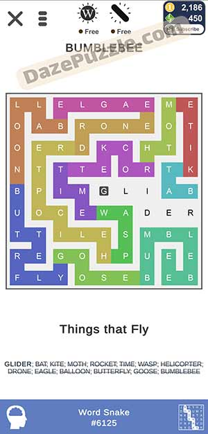 puzzle page word snake March 3 2021 daily puzzle answer