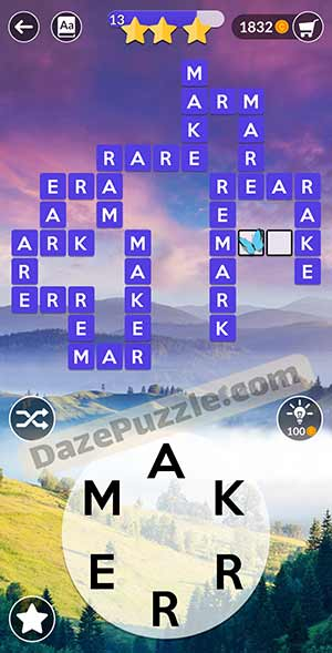 wordscapes March 13 2021 daily puzzle answer